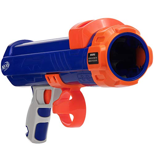 Nerf Dog Tennis Ball Blaster Spielzeug, blau/orange