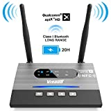 Visoud Long Range Bluetooth 5.0 Transmitter and Receiver aptX HD, aptX Low...