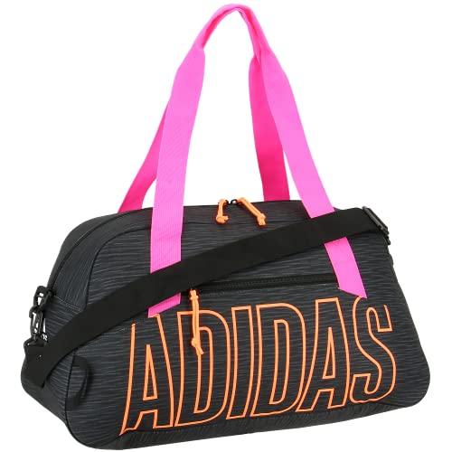 adidas Graphic Duffel Bag, Canvas Black/Screaming Orange/Screaming Pink, One Size