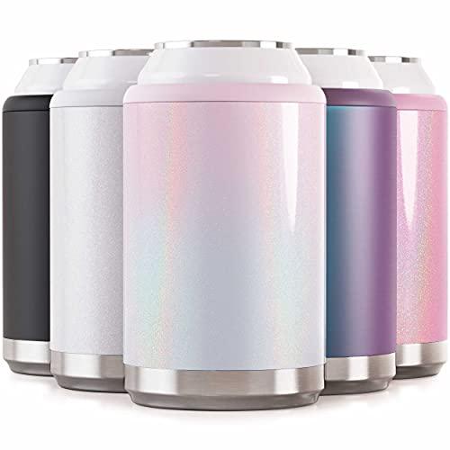 Maars Standard Can Cooler for Beer & Soda | Stainless Steel 12oz Beverage Sleeve, Double Wall Vacuum...