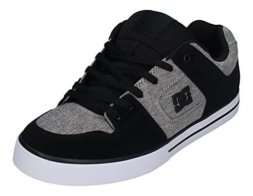DC Shoes Pure-Leather Shoes, Scarpe da Ginnastica Uomo, Grau, 44.5 EU
