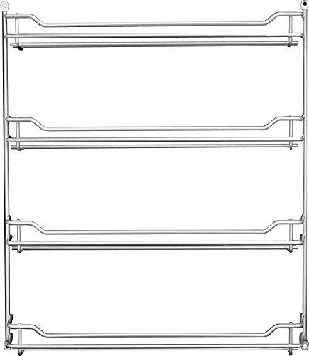 Fuchs 24er Gewürzregal leer Gewürzaufbewahrung Küchen-Regal für Gewürze, Gewürztreppe für 24 Gewürzdosen, ideal als Wandregal in der Küche, Menge: 1 Stück