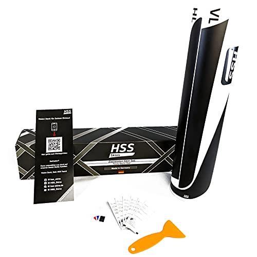 HSS-Skins Innenraum Folierung als selbst Montage All inclusive Set passgenau für Audi A3,S3,RS3 2012-2020 | Wrapping Folie/Autofolie |Dekorleistenfolierung | Carbon schwarz