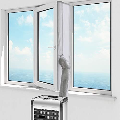 Molbory 400CM Fensterabdichtung für Mobile Klimageräte, Klimaanlagen, Wäschetrockner und Ablufttrockner, AirLock zum Anbringen an Fenster, Dachfenster Flügelfenster keine Bohrlöcher erforderlich
