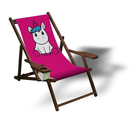 Printalio – Pink Einhorn – Liegestuhl - 2
