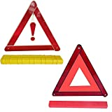 zfdg 2 Pezzi Triangolo Riflettente, Triangolo di Sicurezza Stradale, Triangolo di Avvertimento, Triangolo di Segnalazione Auto, Triangolo Rosso di Avvertimento, per Emergenza Stradale Auto