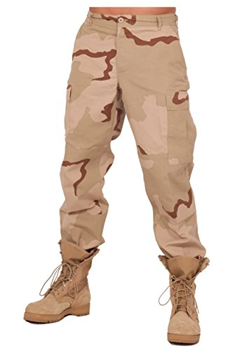 Rothco Mens BDU 3 Color Desert Pants (Medium)
