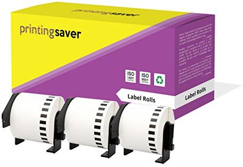3 Rollen DK22205 DK-22205 62mm x 30,48m Endlos-Etiketten kompatibel für Brother P-Touch QL-500 QL-550 QL-560 QL-570 QL-580N QL-700 QL-720NW QL-800 QL-810W QL-820NWB QL-1050 QL-1060N QL-1100 QL-1110NWB