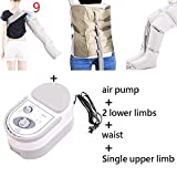 Electric air Compression Leg Foot Massager arm Vibration Treatment Waist air Pneumatic Package Relaxation Pain Relief,9,220V