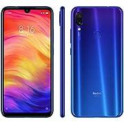 XIAOMI Redmi Note 7, Smartphone, LTE, Système d'exploitation: Android 9 (Pie), Capacité: 256 GB, écran FHD+, 19.5:9, 409ppi. 6.3 Pouces, Camera 48+5 MP, f1.8, Auto HDR, Blue [Italia]