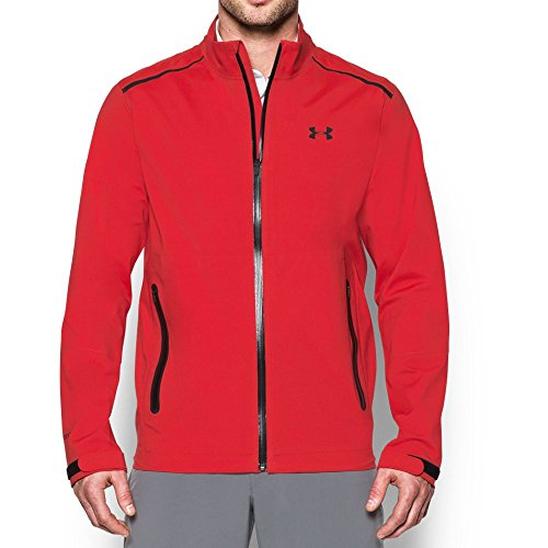 Under Armour Herren UA Golf Paclite wasserdichte Jacke - Rot - XXL