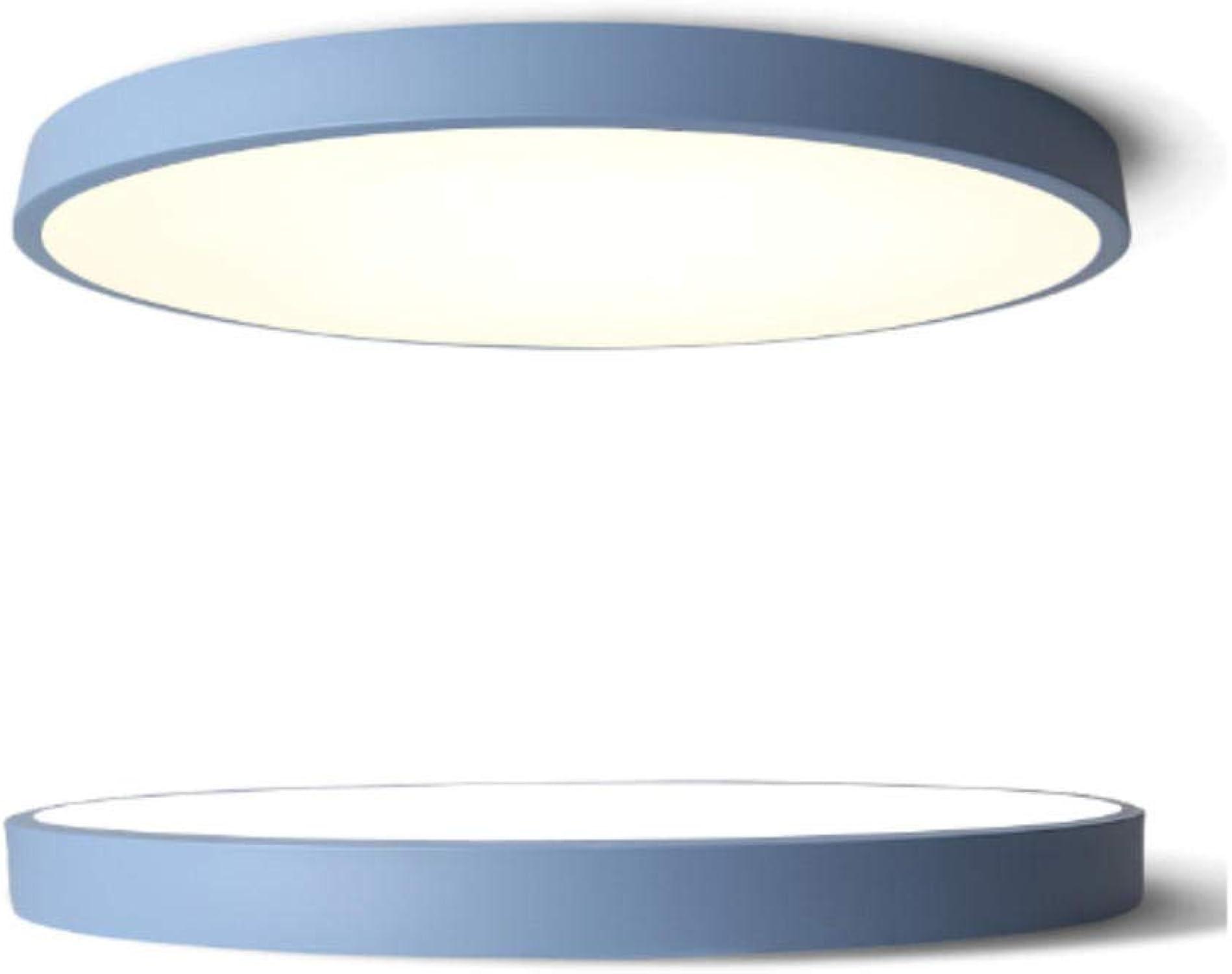 Plafonnier LED ultra-mince rond lampe de salon chambre ronde simple nordique moderne restaurant allée balcon 50cm bleu