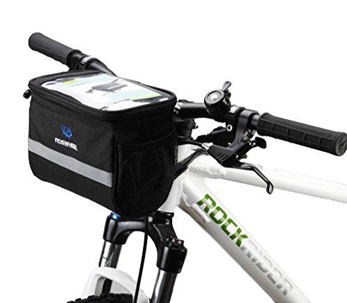 Tofern De Taille Moyenne Vélosacoche De Guidon Avant Panier Sac avec Le Téléphone Cellulaire Carte Écran Tactile PVC Poche, Rectangle