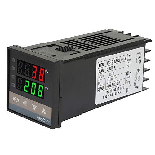 Controlador de temperatura, salida 0-400 ℃ Termostato digital de uso múltiple Relé de termostato de temperatura para medición de temperatura Control de temperatura constante Interruptor (DC24V)
