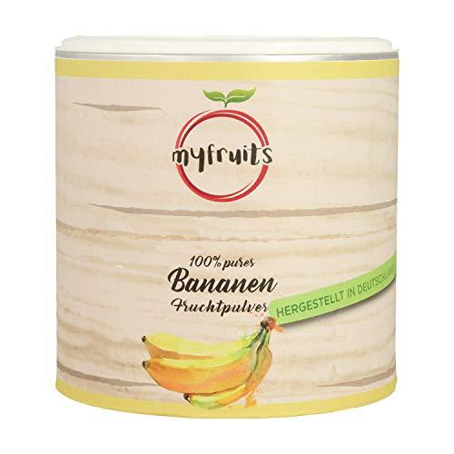 myfruits® Bananenpulver - ohne Zusätze, zu 100% aus Bananen, gefriergetrocknet, Fruchtpulver für Smoothie, Shakes & Joghurt (200g)