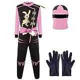 Katara Talla S (3-5 años) Disfraz de Ninja Dragón para Niña Carnaval, Cosplay, color rosa, (1771) , color/modelo surtido