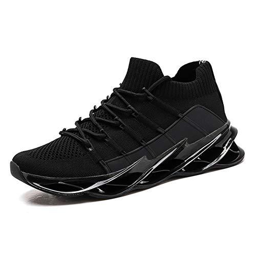 LXVY Neue Herren-Sneaker, atmungsaktive rutschfeste Sommerschuhe aus Mesh, Urlaubs-Trekking-Schnür-Lauf-Basketballschuhe-B-39