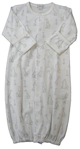 Kissy Kissy Unisex-Baby Infant Giraffe Generations Print Convertible Gown-White-Newborn