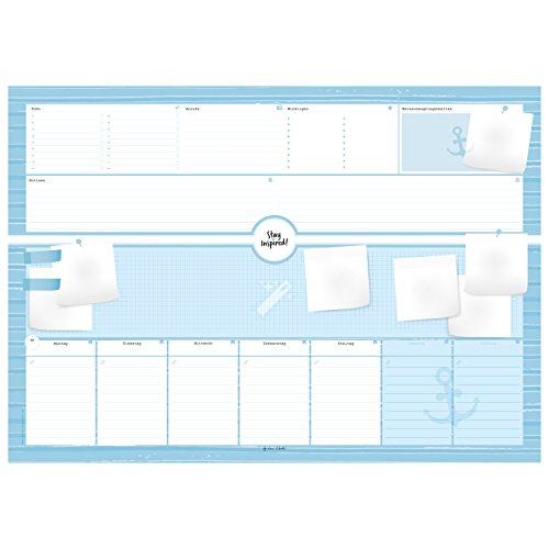 Schreibtischunterlage aus Papier mit 50 Blatt zum Abreißen - Hochwertige Schreibunterlage im Format DIN A2, Papierunterlage ... 2019 - Stay Inspired ... 2018 - Stay Inspired by Lisa Wirth