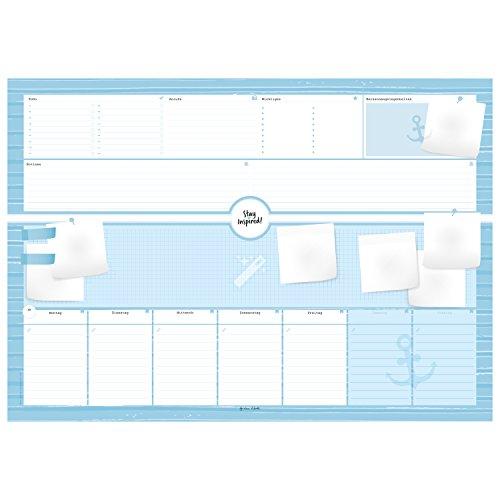 Schreibtischunterlage aus Papier mit 50 Blatt zum Abreißen - Hochwertige Schreibunterlage im Format DIN A2, Papierunterlage ... 2019 - Stay Inspired by Lisa Wirth