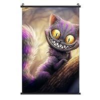 チェシャ猫2 ポスター 絵を掛ける 3 Dプリント ファッション 装飾画 壁の装飾 室内日本 アートポスター 壁画の装飾 ポスター掛け インテリアアート壁 流行のプレゼント