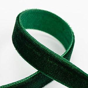 Plain Velvet Green Ribbon 9mm *3 Sizes Available*