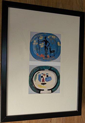 Montiert und gerahmt abstrakt Print, 30,5x 40,6cm gerahmt, verziert Teller von Picasso