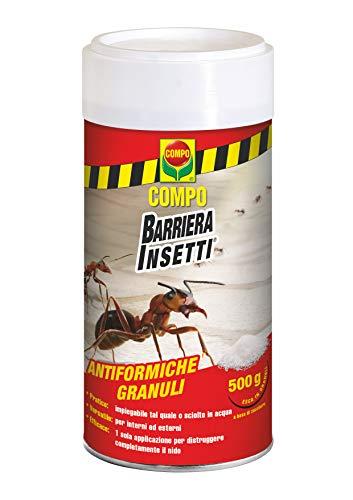 COMPO Antiformiche Granuli Barriera Insetti, Esca per Formiche, Utilizzabile all'Interno e all'Esterno, 500 Grammi