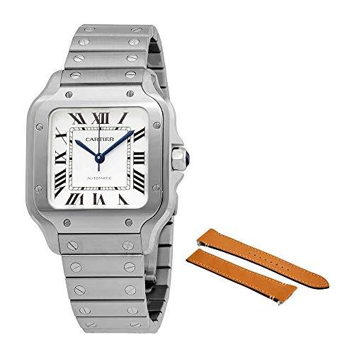 Cartier Santos Silvered Opaline Dial Men's Watch WSSA0029