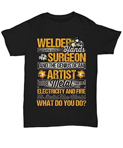 Welder Genius of an Artist Welding Black T-Shirt