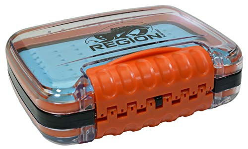 Waterproof Double Sided Fly Fishing Fly Box - Small with Silicon Insert