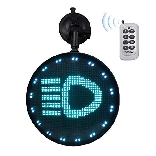 Lumon Auto Nachricht Bretter & Zeichen, Kontrolliert Emoji Auto Display, Auto Display Leuchtende LED Licht Logo mit Fernbedienung für Auto Fahren Auto
