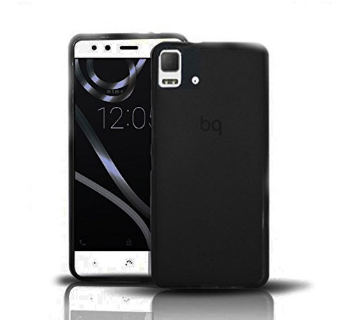 Todobarato24h Funda Gel Lisa Negra Compatible con BQ AQUARIS E5 HD FHD