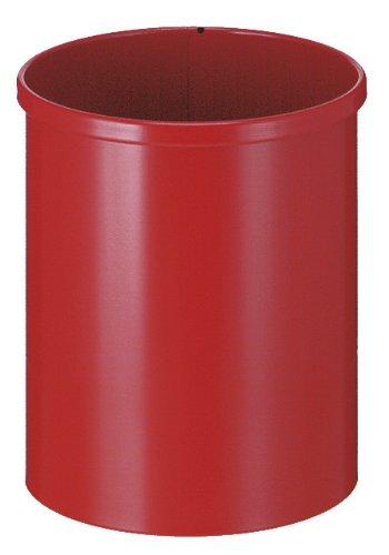 V-Part Corbeille à Papier en métal 15 litres (Rouge)
