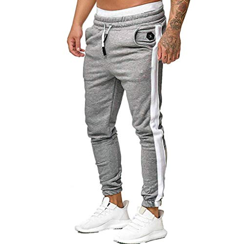 Great Features Of Hmlai Clearance Mens Slim Fit Joggers Fitness Sweatpants Gym Training Sport Long T...