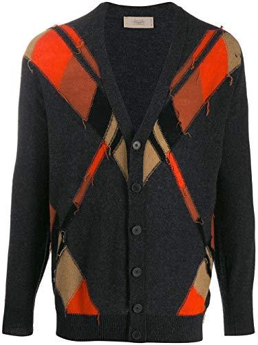 MAISON FLÂNEUR Luxury Fashion Mens Cardigan Winter Grey