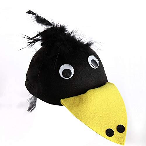 Demarkt Lindo Sombrero de Animal Carnaval Halloween Disfraces Juguetes Sombrero Decorativo Prop Y Cosplay Pao 19.5 * 8.5CM 1PCS Pjaro Carpintero