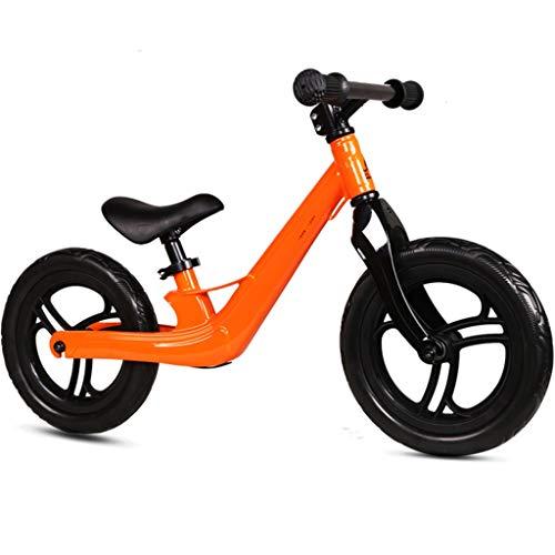 Bicicleta sin pedales Bici Bicicleta de Equilibrio para niños de 2/3/4/5/6/7 años - Bicicletas de Empuje para niños pequeños/Bicicleta sin Scooter de Pedales, Azul/Naranja/Rojo