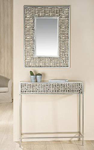 GILDE Metall Spiegel Altsilber 60x80cm