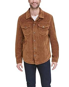 Levi s Men s Leather Shirt Jacket Cognac Faux Suede Medium