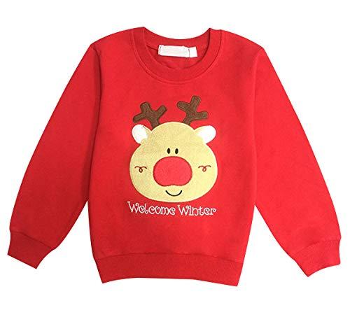 Pengniao Sudadera Navidad Sudaderas Navideñas Familiares Jersey Niño Niña Sueter Navideño Hombre Mujer Reno Sweaters Estampadas Pullover Camisetas Cuello Redondo Largas Chica Chico Invierno Basicas