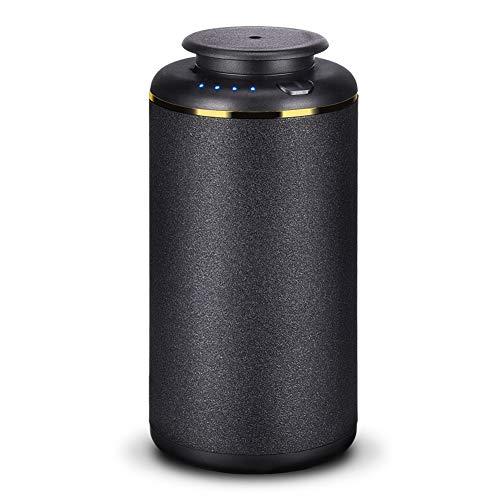 Ominihome, diffusore di aromi per auto, senza acqua, diffusore di oli profumati, portatile, con timer USB, per auto, camera da letto, ufficio, yoga, regalo, 10 ml, colore: nero
