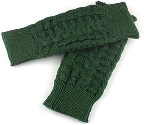 Fashion Knitted Arm Fingerless Winter Gloves Unisex Soft Warm Mitten Hand Gloves eldiven handschoenen 40FE14 - (Color: A, Gloves Size: One Size)