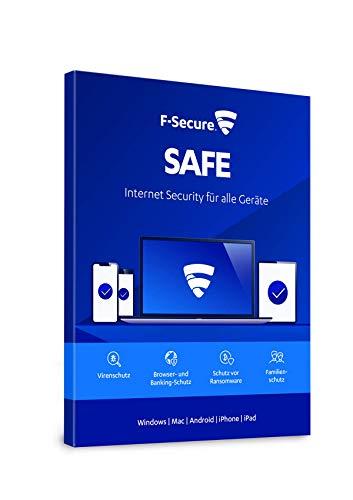 F-Secure SAFE Internet Security - 1 Jahr / 1 Gerät für Multi-Plattform (PC, Mac, Android und iOS) [Online Code]