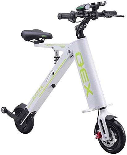 min min Bike,Fast Electric Bikes for Adults Foldable Electric Bike Bicycle Adult Maximum Speed 20km/h 20KM Long Range with LCD-display Two-Wheeled Battery Car (Color : White) (Color : White)
