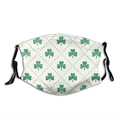 Shamrock On Adult Washable Anti Dust Pollution Half Face Shield Reusable Windproof Cover with Filter Mask