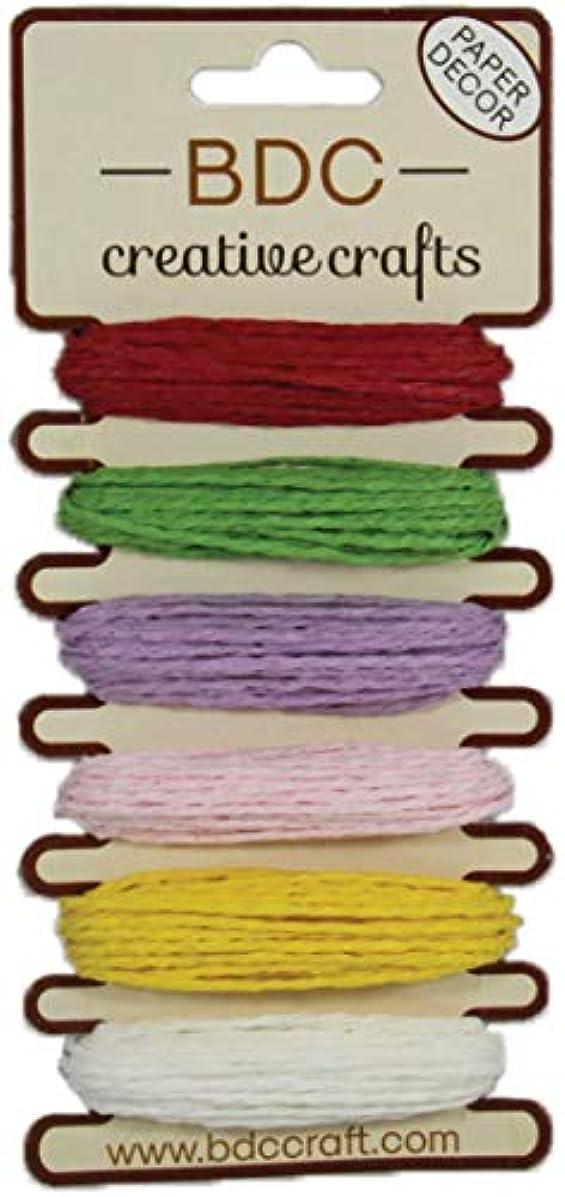 Hemptique PSC-REA BDC Crafts Paper Twine 5m 6/Pkg Solid pinep67636695