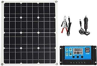 CCChaRLes Kit Panneau Solaire 50W Contrôleur Solaire 4 * 3 Panneau Solaire Monocristallin Contrôleur De Charge Solaire Con...