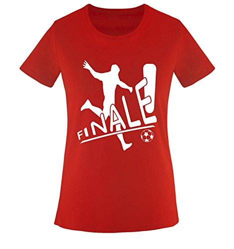 POLEN FINALE Damen T-Shirt Rot/Weiss Gr. XXL