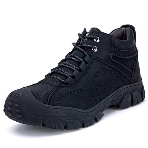 QHENS Calzado De Seguridad Hombre Mujer Con Punta De Acero Zapatos Especiales Para El Trabajo Calzado De Trabajo Suave Y Cómodo Anti Pinchazo,Negro,47EU